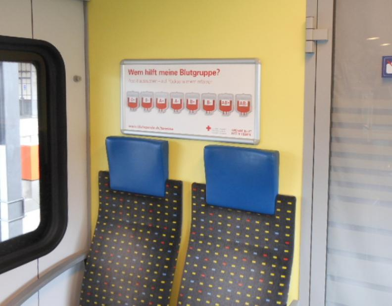 Blutgruppen-Post-Its bei der SBB